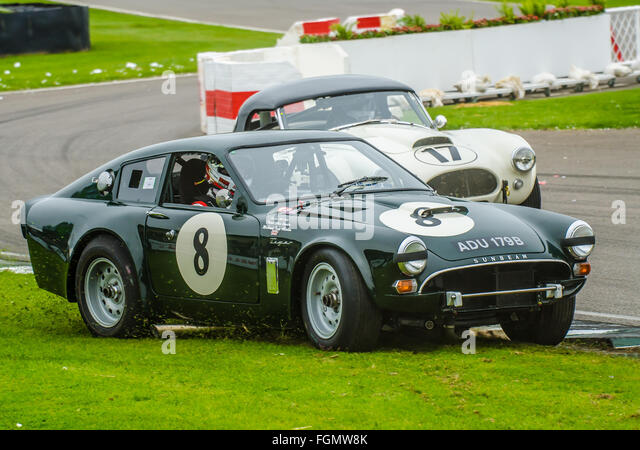 1964 Sunbeam Lister Tiger is owned by Tony Eckford and was raced by Chris Beighton & Matt Neal at the 2015 Goodwood - Stock Image