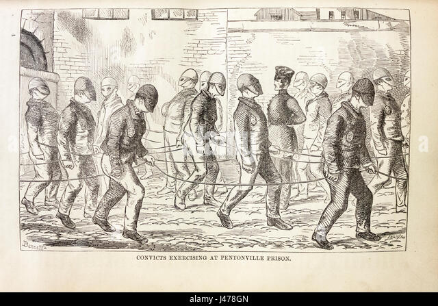 convicts-exercising-at-pentonville-prison