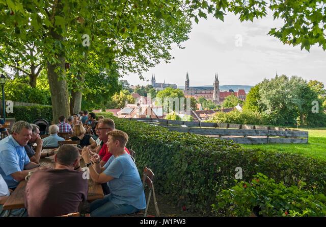 Spezial  Keller beer garden in Bamberg, Franconia, Bavaria, Germany, - Stock Image