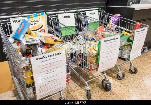 food-bank-donations-left-in-shopping-tro