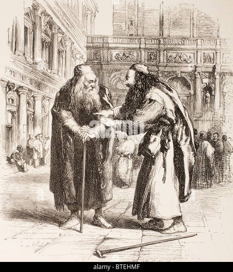 """the portrayal of the character of shylock in the play the merchant of venice by william shakespeare In william shakespeare's play """"the merchant of venice,"""" the character of shylock is noticeably unattractive relative to the other main characters in the play a jewish moneylender, his name has become synonymous with illicit loansharking, and the character has been derided as an anti-semitic caricature."""