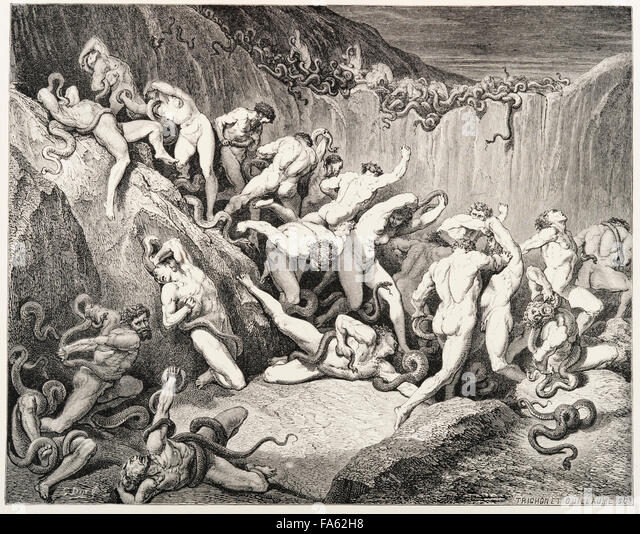 the punishment for every sin in dantes inferno Outline of inferno -- canto by canto , one of the most significant examples of the nature of hell's punishment: this place is reserved to the sin of fraud.