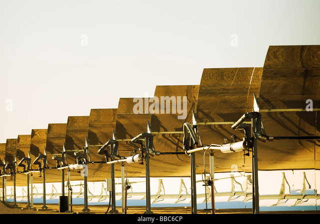 Solar electric generating plant - Stock Image