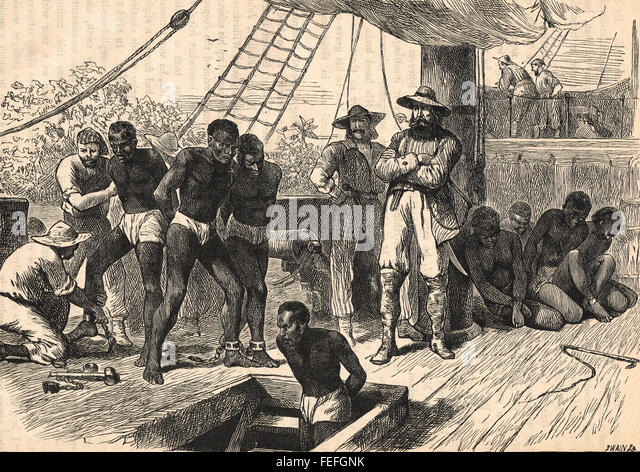 an analysis of the historic documents from 18th and 19th centuries on the topic of slavery in the un