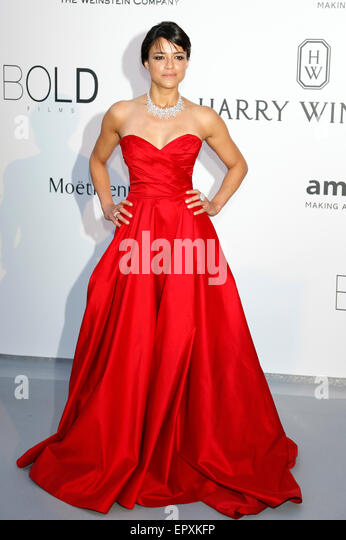 Michelle Rodriguez attending the amfAR's Cinema Against Aids Gala during 68th Cannes Film Festival at Hotel - Stock Image