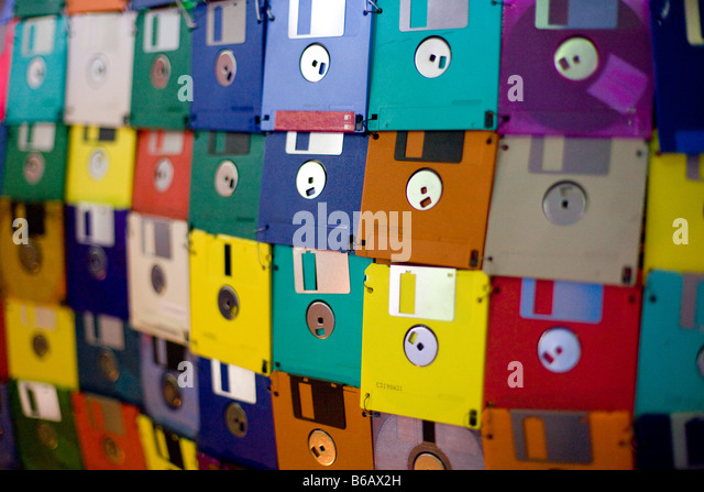 a-colorful-wall-made-of-old-35-floppy-di