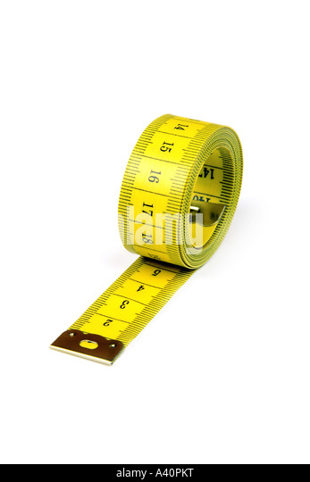 measuring tape Maßband - Stock Image
