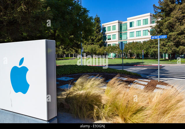 Apple Inc Head Office Campus, Infinite Loop, Cupertino, California, USA - Stock Image