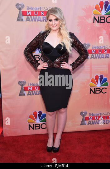 Los Angeles, California, USA. 29th Mar, 2015. Meghan Trainor arrives for the 2015 iHeartRadio Music Awards held - Stock Image