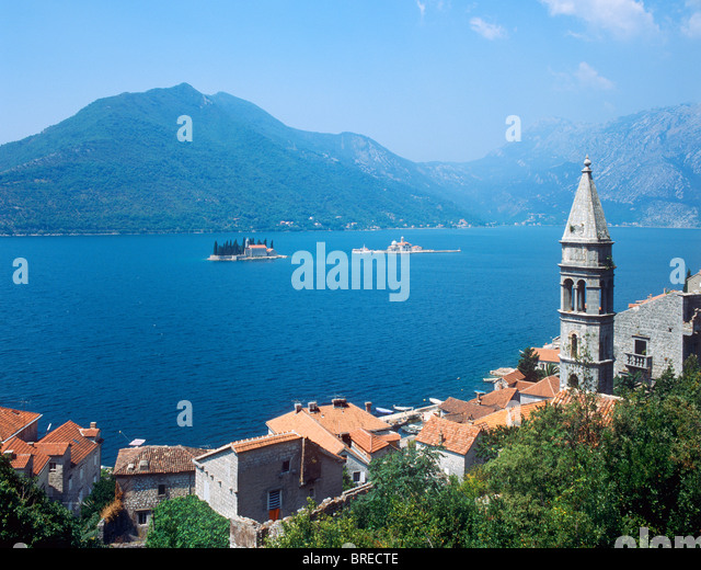 Perast, Bay of Kotor, Montenegro - Stock Image