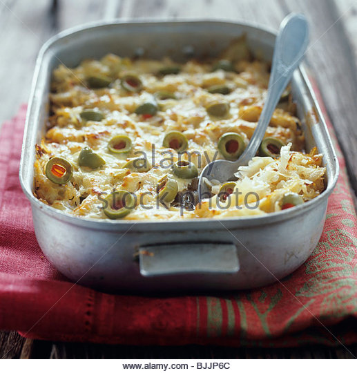 Sauerkraut bake with olives - Stock Image