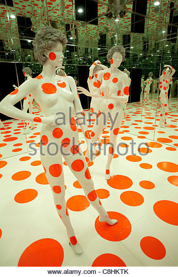 The Infinity Dots Mirrored Room at the Mattress Factory Museum. - Stock Image