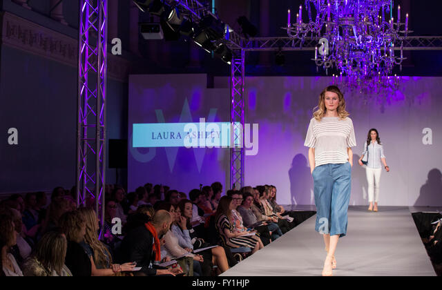 Bath, UK. 20 April, 2016. Catwalk show at the Bath, Assembly Rooms that showcases key looks for Spring/Summer 2016' Credit:  Cecil Davis/Alamy Live News - Stock Image