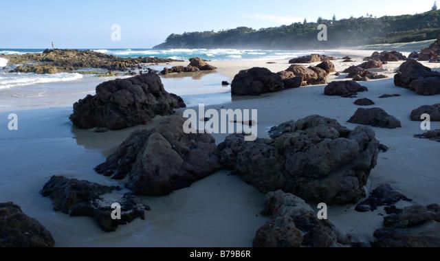 Dune Rocks, Point Lookout, North Stradbroke Island, Australia - Stock Image