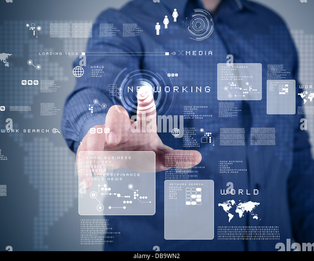 Touch screen technology - Stock Image