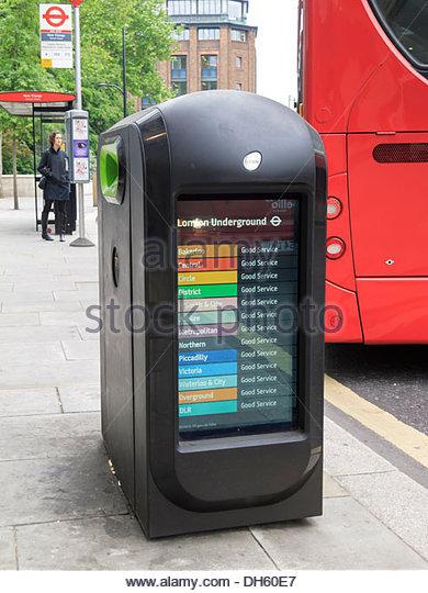 Litter Bin Street advertising London England - Stock Image