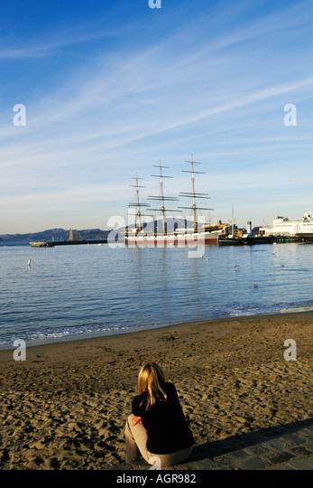 California, San Francisco, GGNRA, Aquatic Park Stock Photo