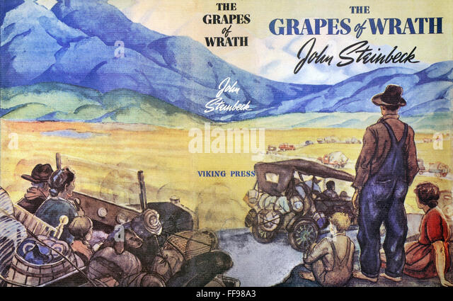 an analysis of the novel grapes of wrath by john steinbeck John steinbeck died in new york which included of mice and men and the grapes of wrath this first novel tells the story of a fruit pickers' strike in.