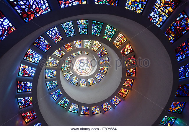 low-angle-view-of-spiraling-stained-glas
