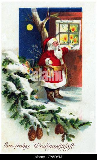 Немецкая открытка новый год