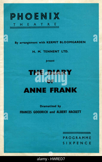 an analysis of the diary of anne frank by frances goodrich and albert hackett Start studying the diary of anne frank act 1 by frances goodrich and albert hackett learn vocabulary, terms, and more with.