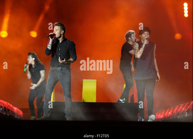 Chicago, USA. 23rd Aug, 2015. One Direction performs at Soldier Field in Chicago on Sunday, Aug. 23, 2015. © - Stock Image
