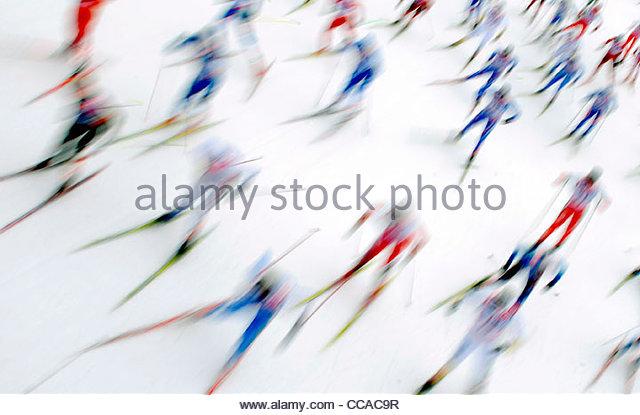epa02379231 Cross country skiing. EPA/FILIP SINGER - Stock Image
