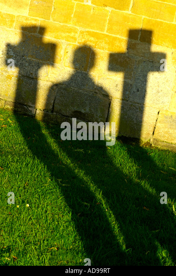 solitude, old men meditating on the graveyard about live and death - Stock Image