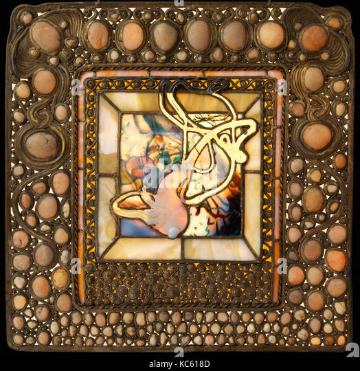 Squash Window with Pebbles, Louis Comfort Tiffany, 1885–90 - Stock Image