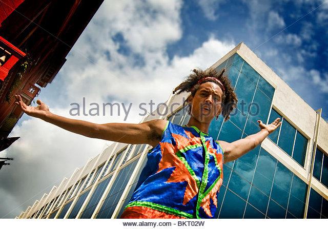 cuba,havana,folkloric show in the street - Stock Image