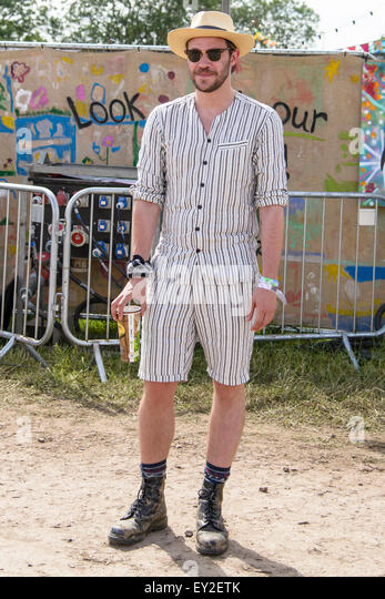 Will Young attends Glastonbury Festival at Worthy Farm on 27/06/2015 at Worthy Farm, Glastonbury.  Persons pictured: - Stock Image