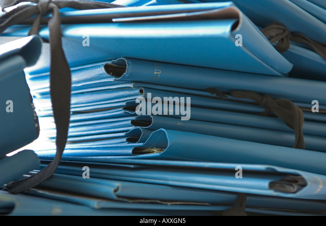 Pile of Folders - Stock Image