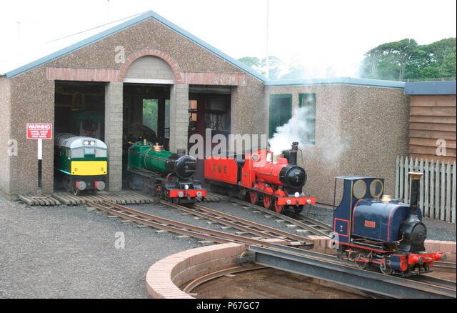Kerr's Miniature Railway at Arbroath. July 2004 - Stock Image