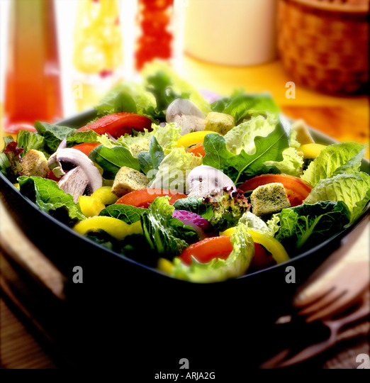 Bowl of salad - Stock Image
