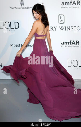 Kendall Jenner attending the amfAR's Cinema Against Aids Gala during 68th Cannes Film Festival at Hotel du Cap - Stock Image