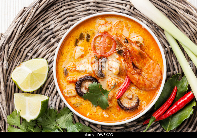 Tom kha gai - tom yam chicken soup with coconut milk