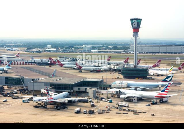 London Heathrow Airport - Stock Image