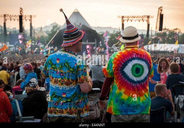 Glastonbury Music Festival 2014 - Stock Image