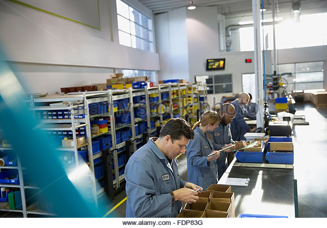 assembly line and line workers