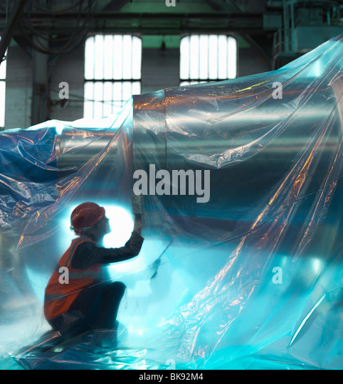 Engineer Inspecting Steel For Dispatch - Stock Image