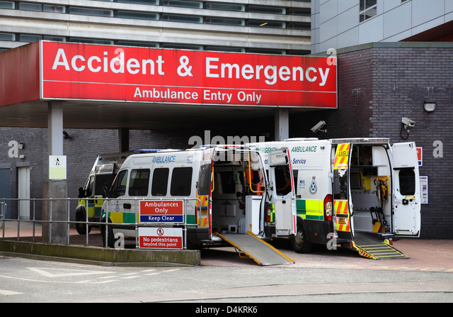 Emergency room sign ambulance