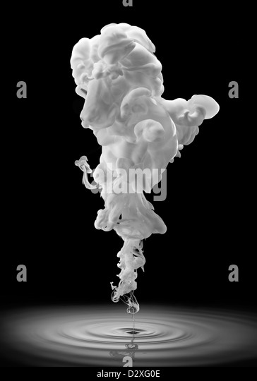 Smoke forming poodle face - Stock Image
