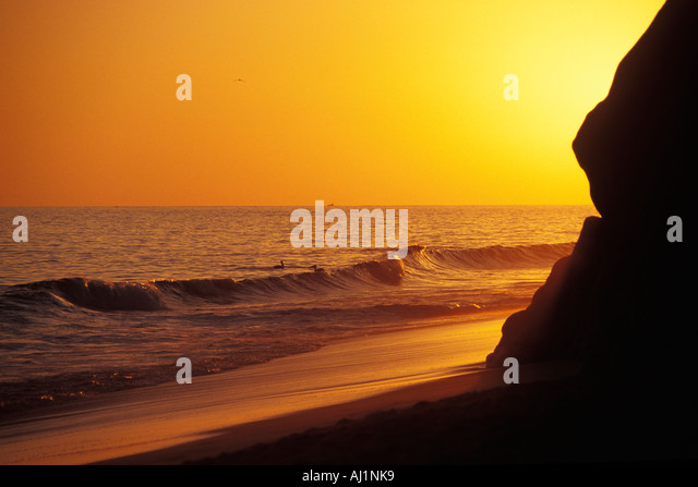 Mexico, Cabo San Lucas, Sunset, Solmar Beach Stock Photo