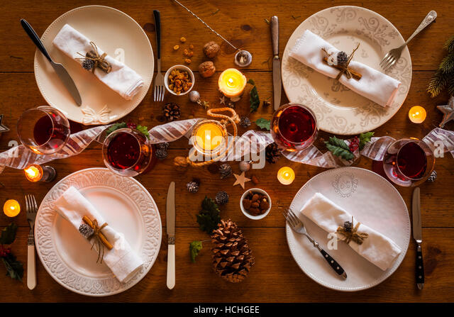 table setting of family or compromise