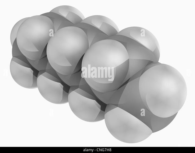 Heptane molecule