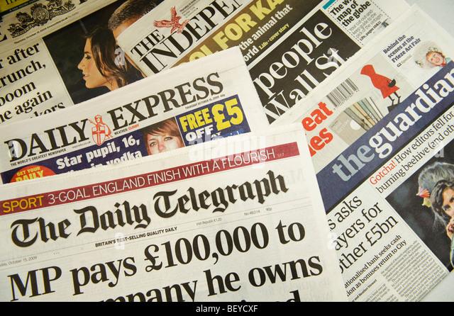 british newspapers list