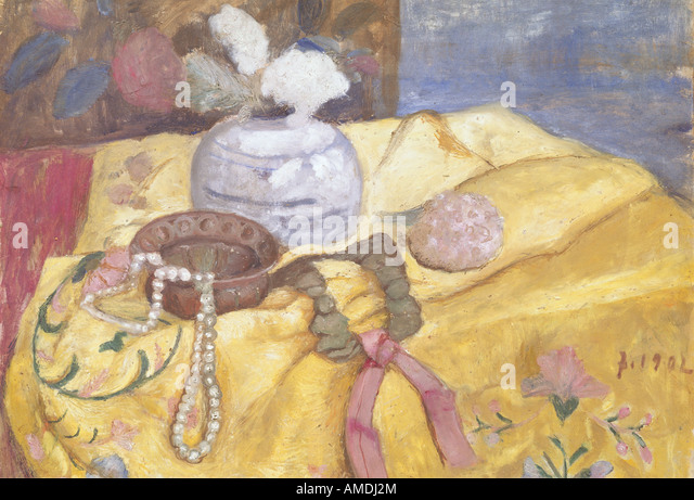 fine arts, Modersohn-Becker, Paula (1876 - 1907), painting, still life pearl necklace, 1902, Lower Saxon State Gallery, - Stock Image