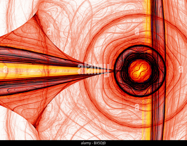 Abstract computer generated red energy fractal. Good as background or wallpaper. - Stock Image