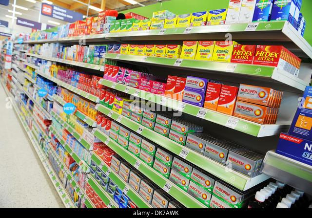 supermarket-interior-showing-painkillers
