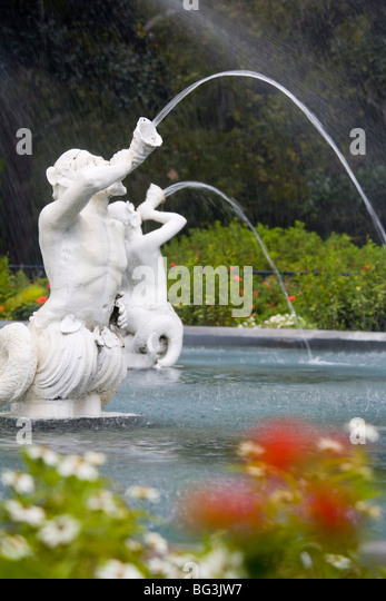 Fountain, Forsyth Park, Savannah, Georgia, United States of America, North America - Stock Image